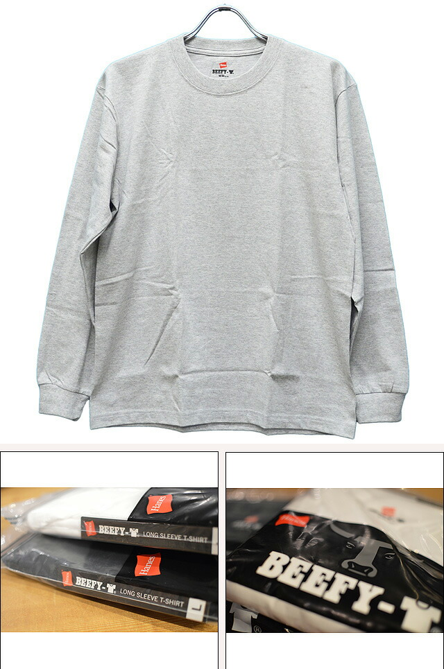 BEEFY LONG SLEEVE T-SHIRT GRAY H5186-060