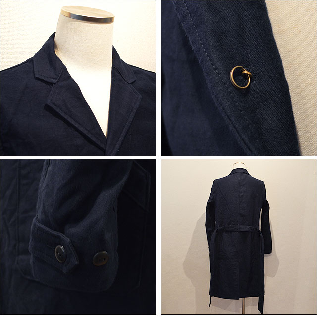 WORKER COAT MOLESKIN(INDIGO)