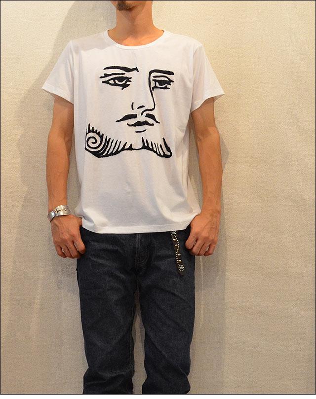 刺繍Tシャツ WHT/KING