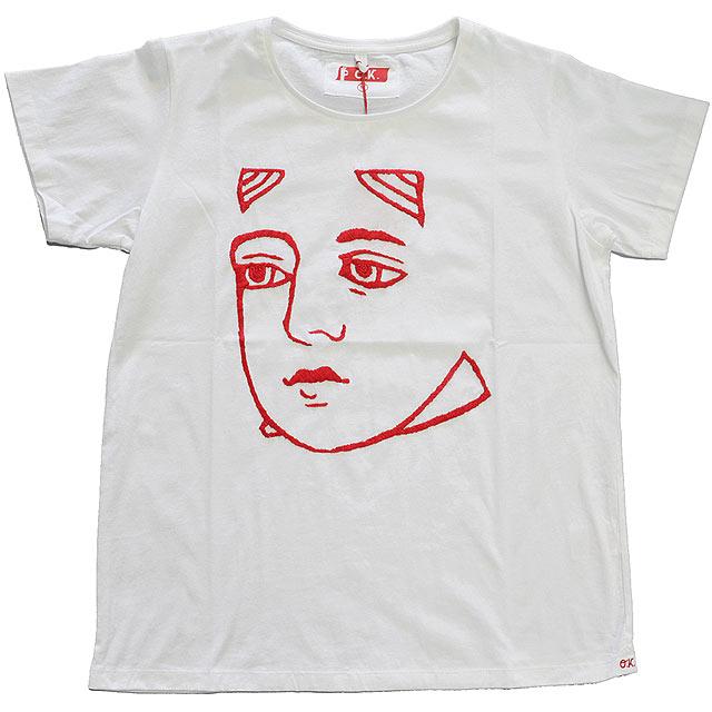 刺繍Tシャツ WHT/QUEEN