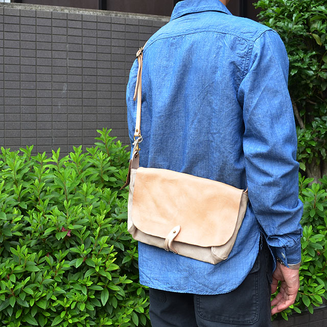 CANVAS×LEATHER 3WAY CLUTCH BAG NATURAL/ヌメ
