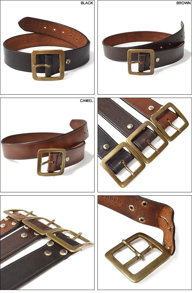LEATHER GARRISON BELT