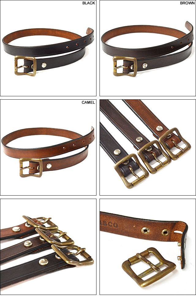 LEATHER GARRISON BELT-NARROW