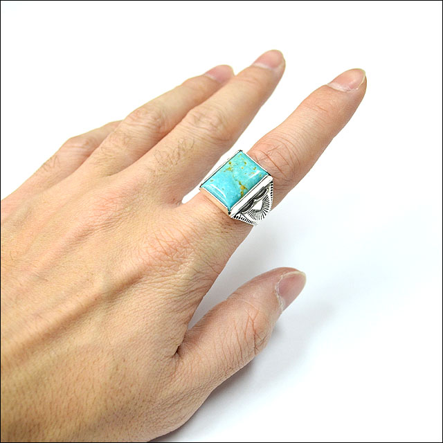 #TURQUOISE RECTANGLE RING