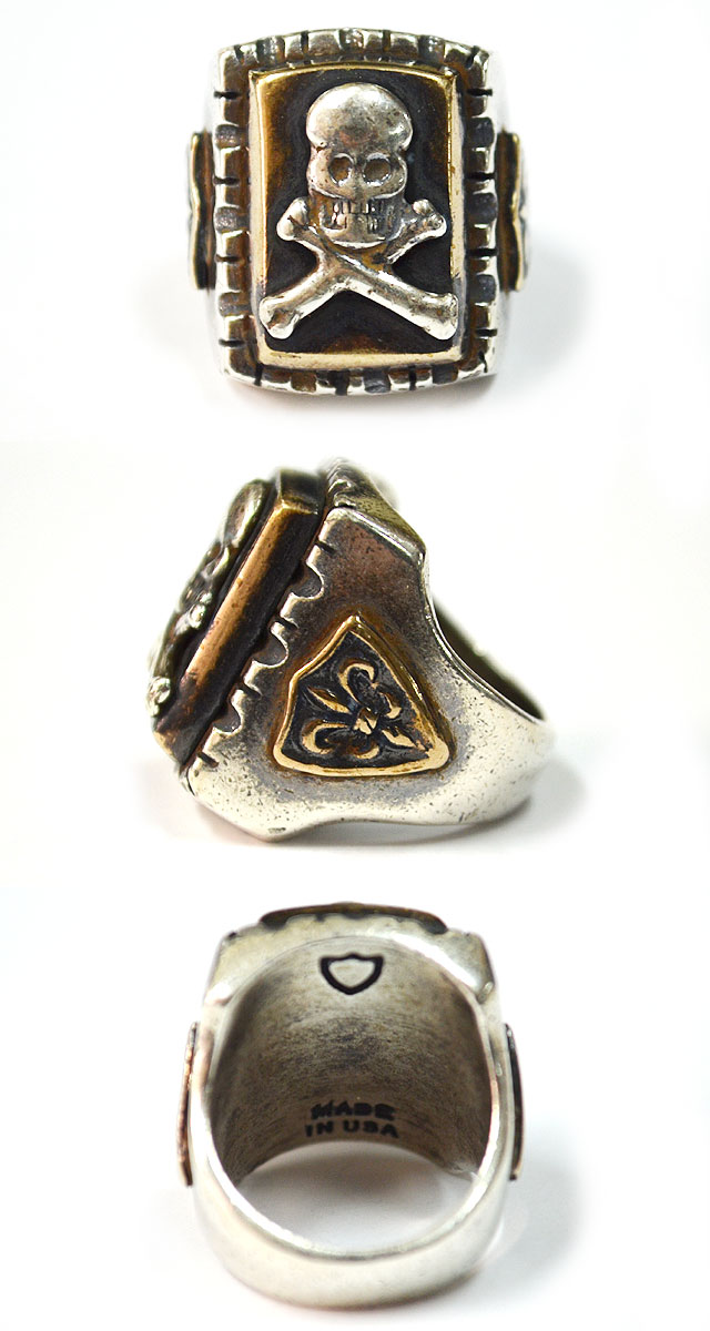MEXICAN RING #SQUARE SKULL