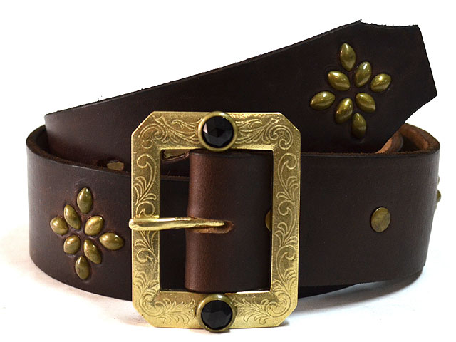 BLK-H03 1.75inch BELT(HORWEEN CHROMEXCEL) BROWN/BRASS
