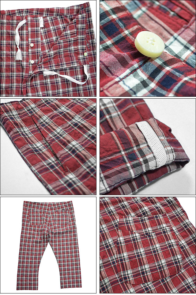 PAJAMA PANTS 15SS RED check