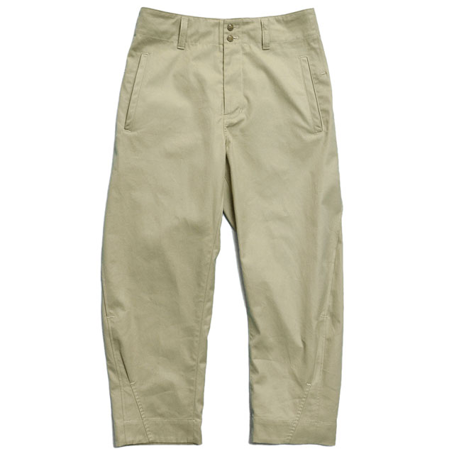 side tuck bloom pants Chino SAND