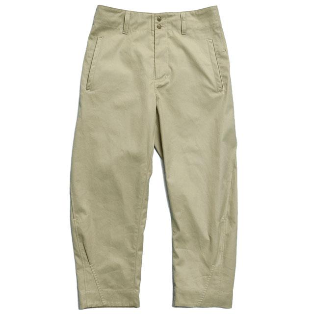 side tuck bloom pants Chino SAND