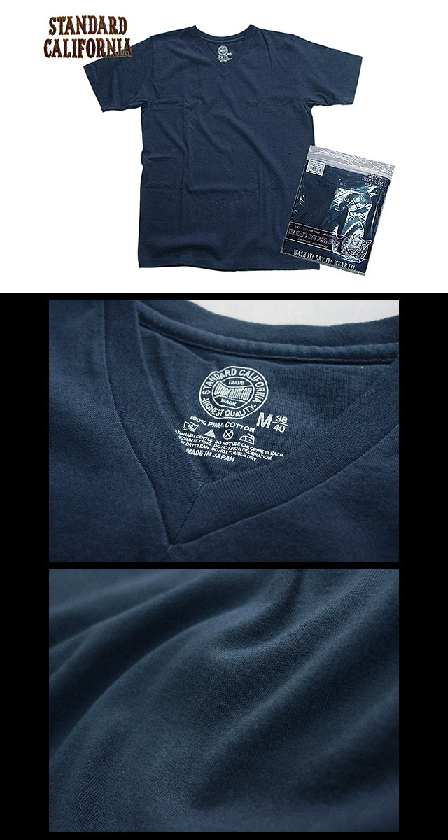 SD UNDERWEAR V-NECK T NAVY
