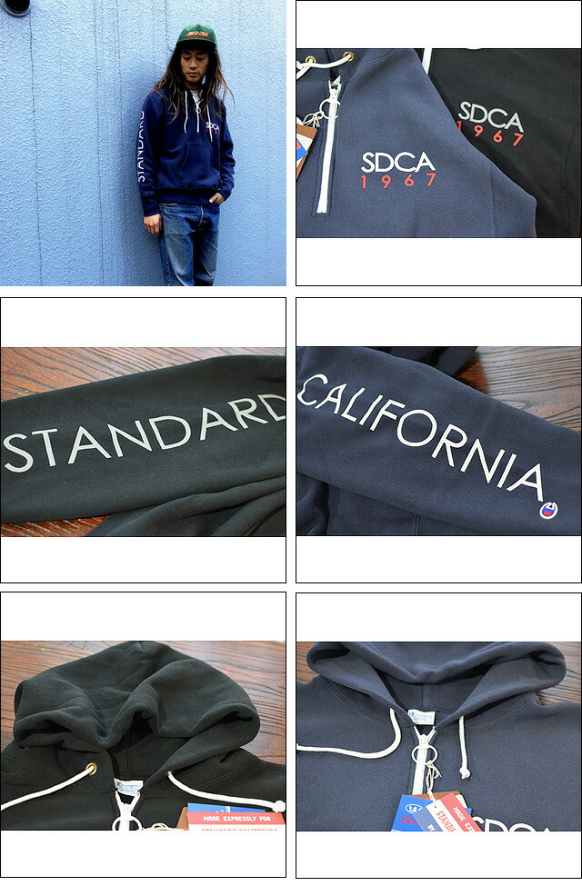 Champion × SD Reverse Weave Half Zip Hood 18AW SWOZD188