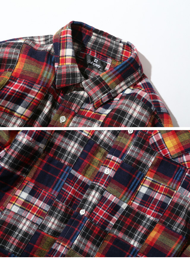 (予約)PATCHWORK SHIRT 103-20127