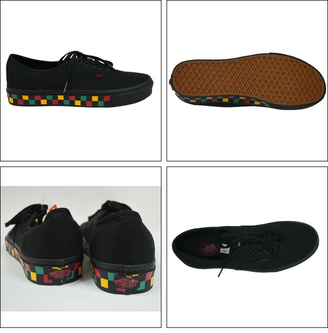 VANS AUTHENTIC(CHECKER TAPE) Lifestyle Black/Black/Rasta VN0A38EMMOQ