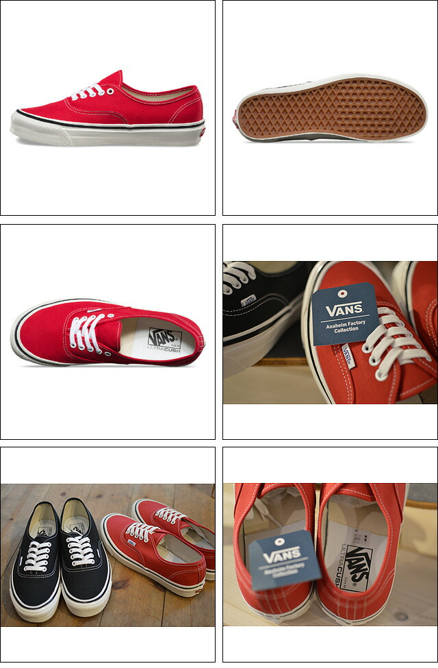 AUTHENTIC 44DX(ANAHEIM FACTORY PACK) RACING RED VN0A38ENMR9