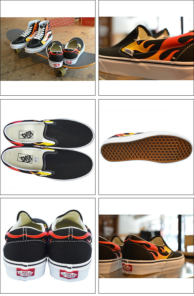 CLASSIC SLIP-ON(FLAME PACK) VN0A38F7PHN FLAME