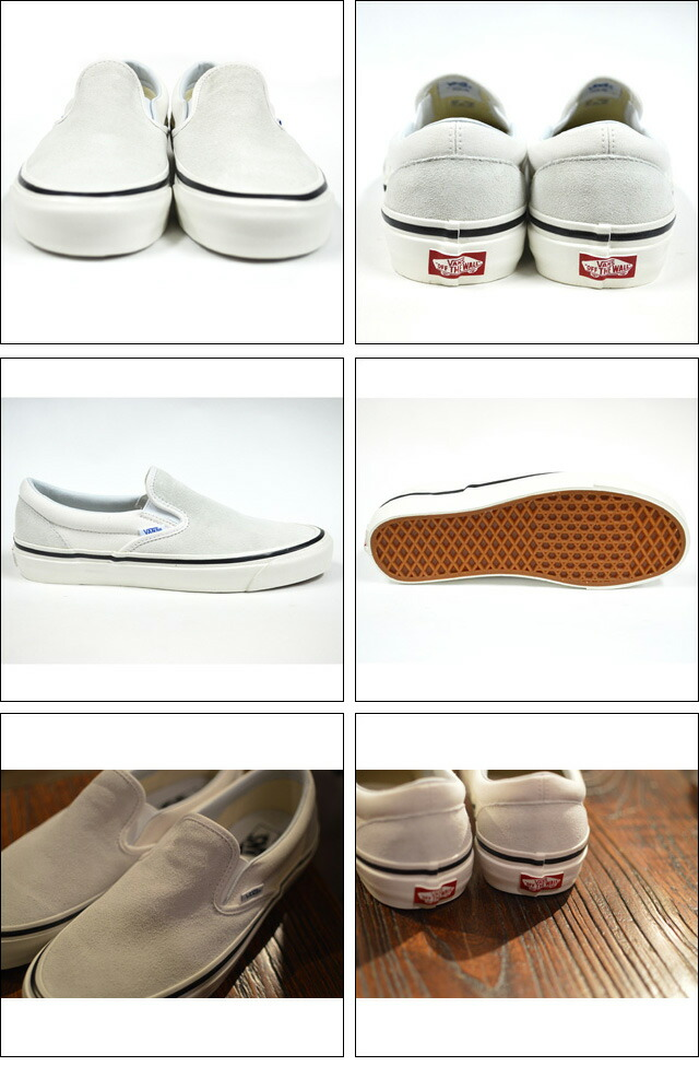CLASSIC SLIP-ON 98DX(ANAHEIM FACTORY)  SD/OG WHITE VN0A3JEXQU2