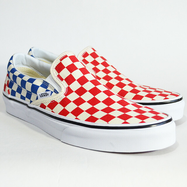 CLASSIC SLIP-ON Lifestyle (Checkerboard)red/blue VN0A38F7QCS
