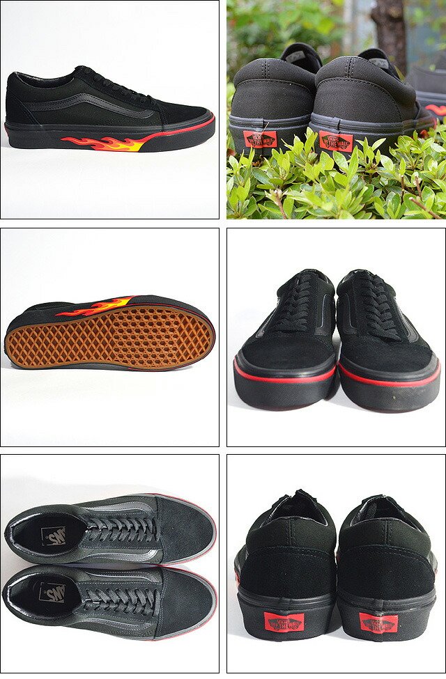OLD SKOOL Lifestyle (Flame Wall) black/black black/black