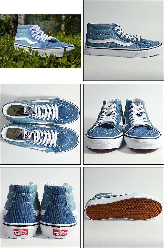 SK8-MID REISSUE Lifestyle (Denim 2-Tone) blue/true white VN0A3MV8Q69