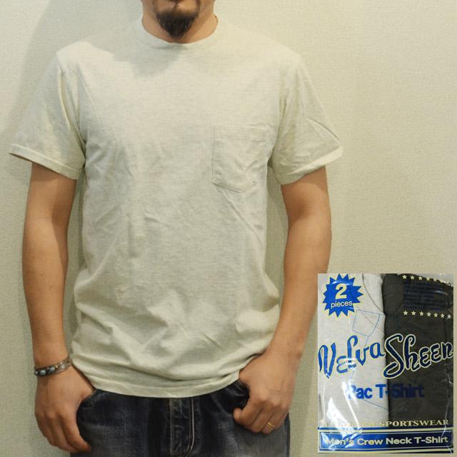 2パックTシャツ(ポケット付きクルーネック) BLACK/OATMEAL