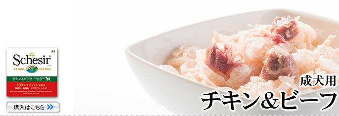 Schesir(シシア)/ドッグ ゼリータイプ チキン&ビーフ