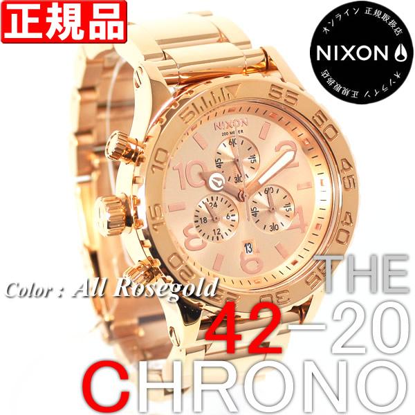 ニクソン 腕時計 NIXON 2010年ウィンター新作 42-20クロノ オールローズゴールド