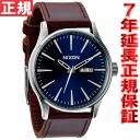 Nixon NIXON Sentry leather SENTRY LEATHER watch men blue / brown NA1051524-00