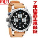 48-20 48-20 Nixon NIXON THE CHRONO LEATHER Kurono leather watch men natural / black NA3631602-00