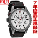 48-20 48-20 Nixon NIXON THE CHRONO LEATHER Kurono leather watch men gunmetal / white NA363486-00