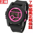 40 40 Nixon NIXON unit UNIT watch Lady's / men black / magenta Japanese precedent release color digital NA4901614-00