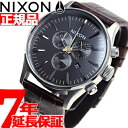 Nixon NIXON sentry Chrono leather SENTRY CHRONO LEATHER watch men's chronograph Brown Gator NA4051887-00
