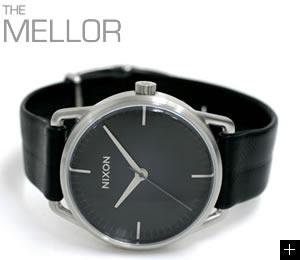 NIXON 腕時計 MELLOR NA129000-00 ブラック ニクソン 説明