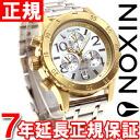Nixon NIXON 38-20 Chrono 38-20 CHRONO watch ladies chronograph gold / silver / silver NA4042062-00