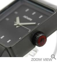 NIXON 腕時計 ニクソン QUATRO NA013131-00 ガンメタル 横向き