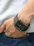 NIXON 腕時計 ニクソン QUATRO NA013131-00 ガンメタル 着用