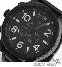 NIXON ニクソン 腕時計 51-30 CHRONO NA083001-00 オールブラック 文字盤