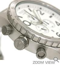 ニクソン NIXON 腕時計 51-30 CHRONO NA083100-00 ホワイト 横向き