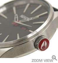 NIXON 腕時計 ニクソン 51-30 CHRONO NA083000-00 ブラック 横向き