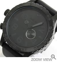 ニクソン 腕時計 NIXON 51-30 PU NA058001-00 オールブラック 文字盤