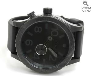 ニクソン 腕時計 NIXON 51-30 PU NA058001-00 オールブラック 横置き