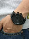 ニクソン 腕時計 NIXON 51-30 PU NA058001-00 オールブラック 着用