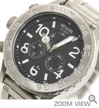 NIXON ニクソン 腕時計 42-20 CHRONO NA037000-00 ブラック 文字盤