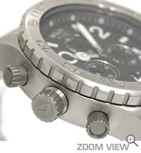 NIXON ニクソン 腕時計 42-20 CHRONO NA037000-00 ブラック 横向き
