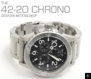 NIXON �j�N�\�� �r���v 42-20 CHRONO NA037000-00 �u���b�N ���u��