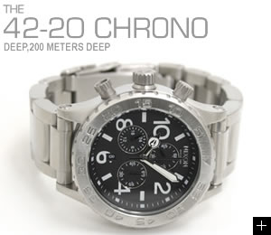 NIXON ニクソン 腕時計 42-20 CHRONO NA037000-00 ブラック 横置き