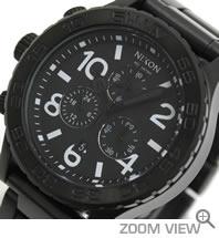 ニクソン NIXON 腕時計 42-20 CHRONO NA037001-00 オールブラック 文字盤