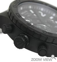 ニクソン NIXON 腕時計 42-20 CHRONO NA037001-00 オールブラック 横向き