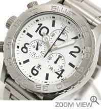 NIXON ニクソン 腕時計 42-20 CHRONO NA037100-00 ホワイト 文字盤
