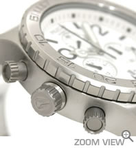 NIXON ニクソン 腕時計 42-20 CHRONO NA037100-00 ホワイト 横向き