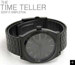 NIXON ニクソン 腕時計 TIME TELLER オールブラック NA045001-00 横置き